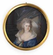 Portraitminiatur der Prinzessin Elisabeth Wilhelmine von WürttembergDeutsch/Österreich, um 1785D.