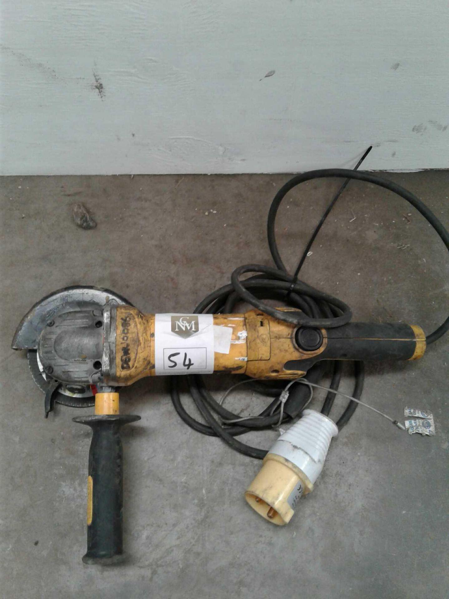 Lot 54 - DeWalt 4 inch grinder 110 V