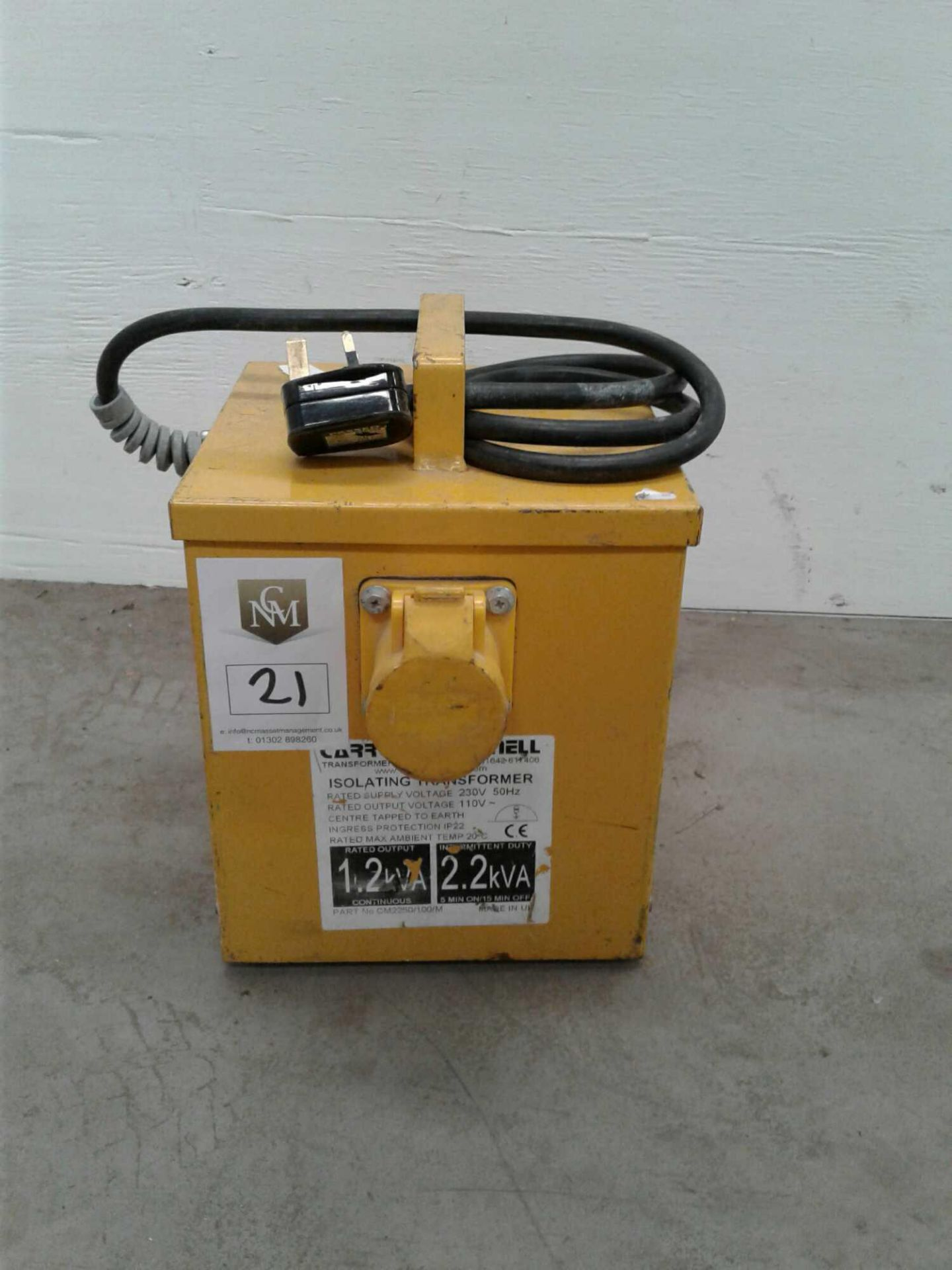 Lot 21 - 2.2 kVA transformer