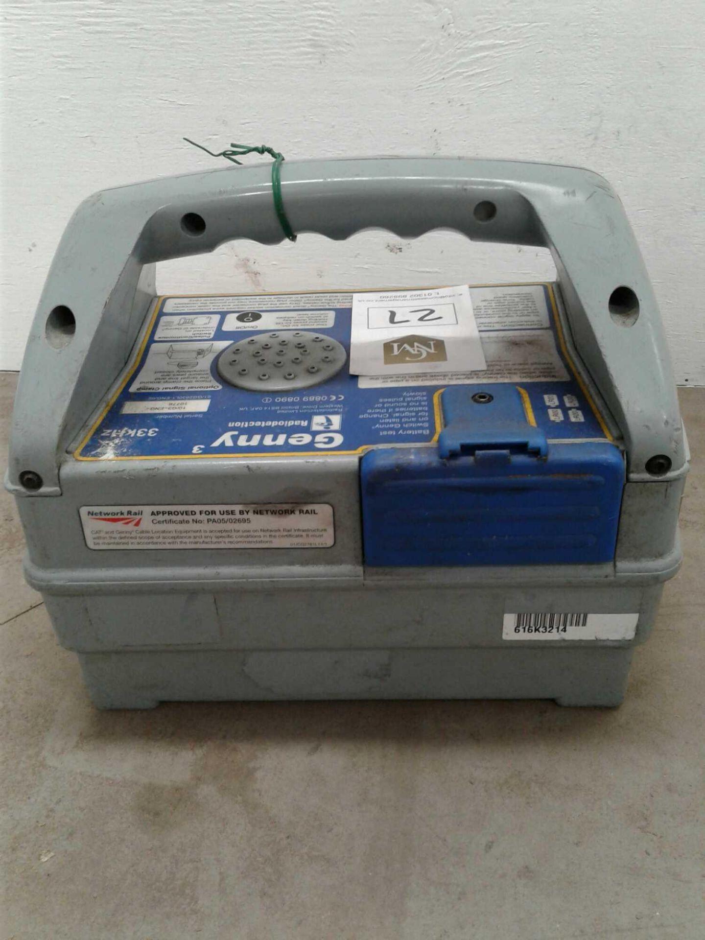Lot 27 - Genny 3 radiodetection unit