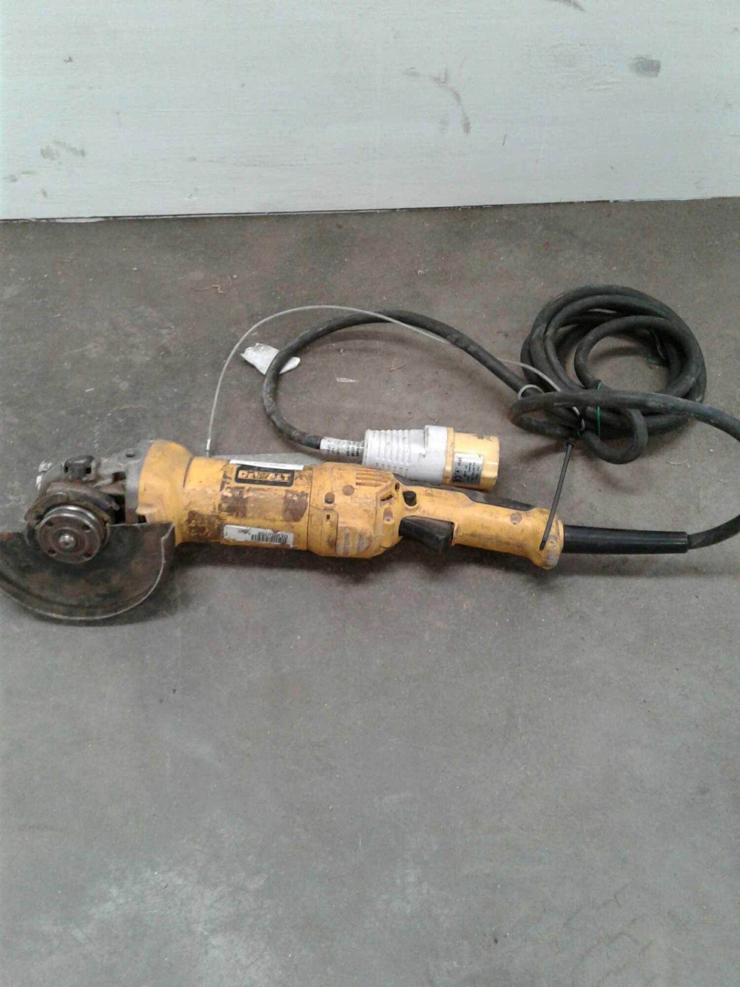 Lot 55 - DeWalt 4 inch grinder 110 V