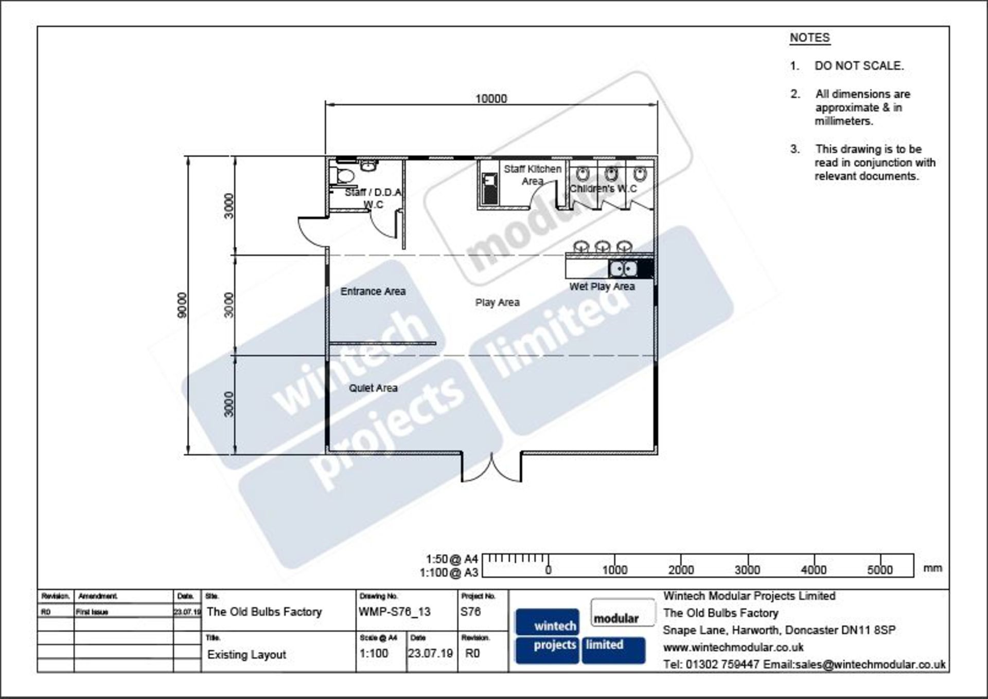 Lot 2 - Modular Building 10m long x 9m wide *Low Reserves*