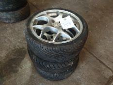 3 x alloy wheels
