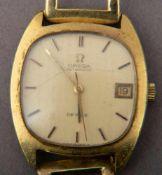 Omega De Ville Herrenarmbanduhr mit 585er Gelbgold-Armband (ca. 20 gr). Handaufzug mit