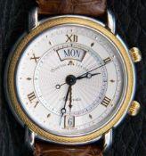 MAURICE LACROIX - AUTOMATISCHE Herrenarmbanduhr mit Weckfunktion, Anzeige von Uhrzeit, Datum &