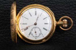 Große, schwere Herrentaschenuhr, für den russischen Markt gefertigt. Vergoldetes Gehäuse aufwändig