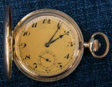 Savonette Herrentaschenuhr der POSTALA Watch Co., Schweiz um 1900/20, flaches 14K Gelbgoldgehäuse,