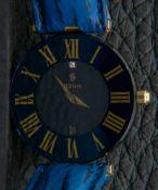 """Feine Damenarmbanduhr, H. STERN, Diamant von ca. 0,01 ct. auf der """"12"""", 750er Gelbgold-Gehäuseboden,"""