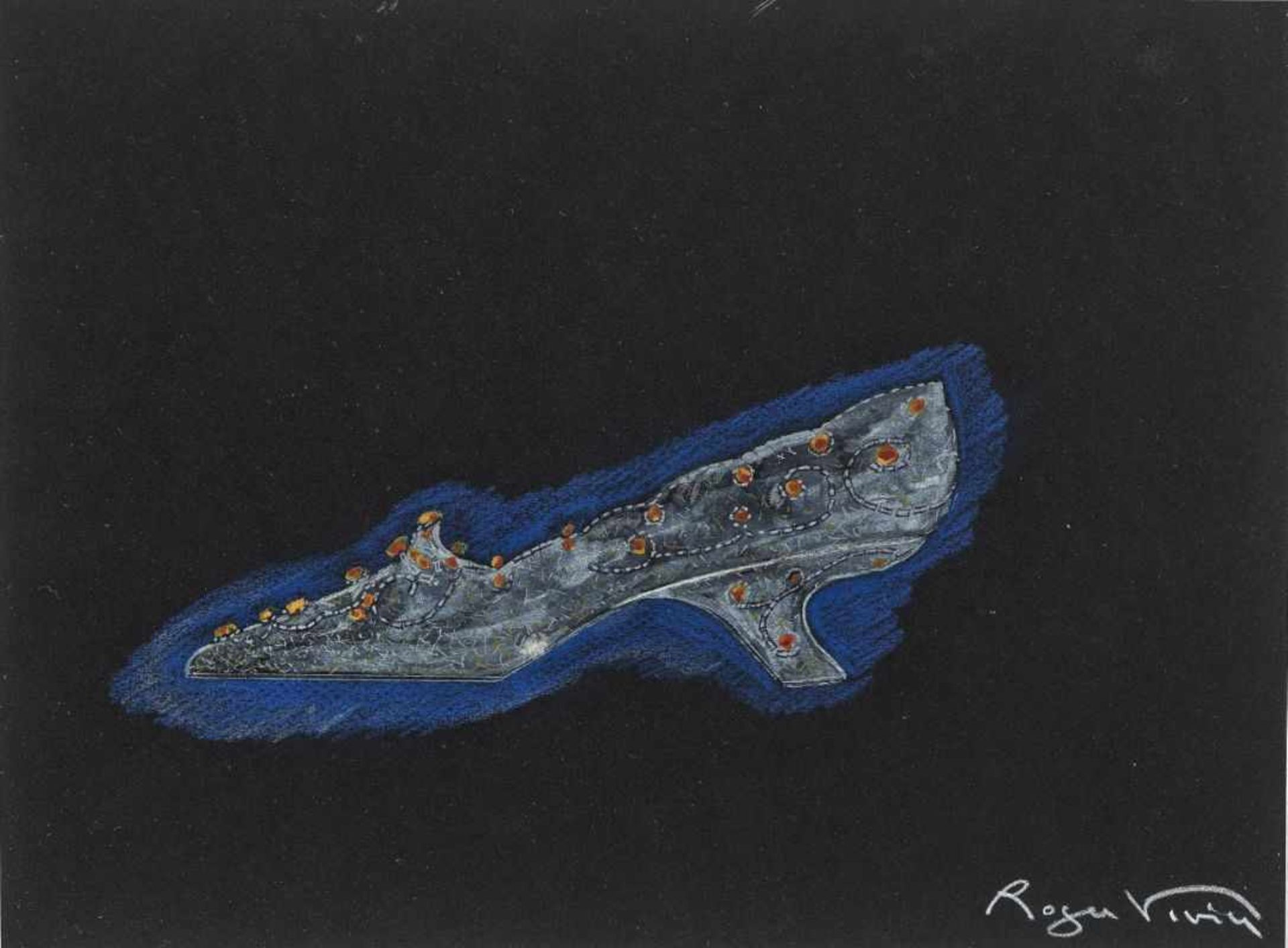 Vivier, Roger1907 Paris - 1998 Toulouse Shoe Design. 1957 Signed lower right Ink drawing with