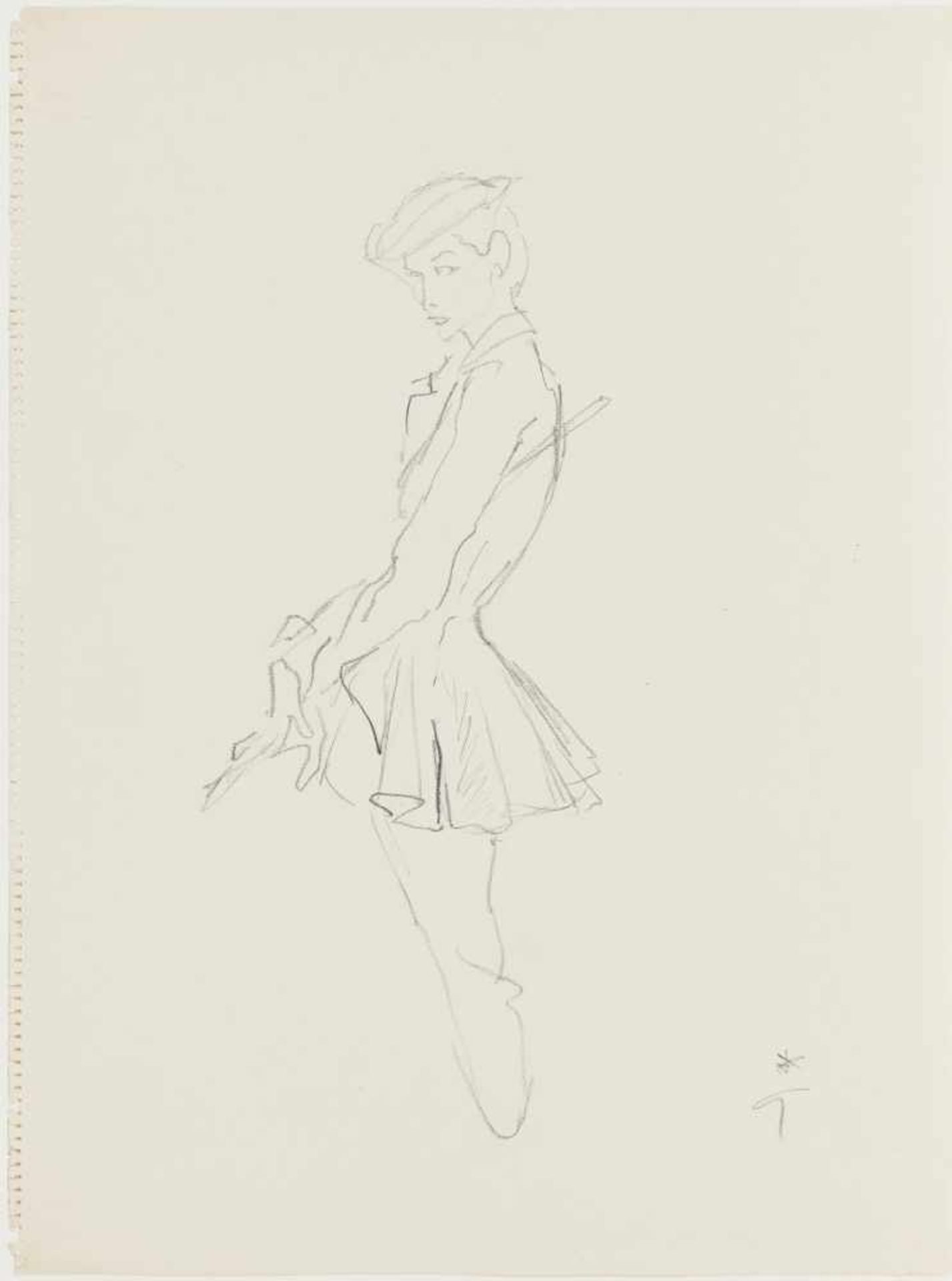 Gruau, René1909 Rome - 2004 Rome Fashion Illustration for Jaques Fath. C. 1951/52 Signed lower