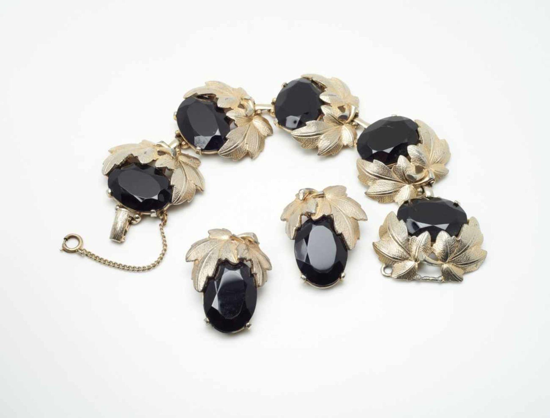 Two-piece Jewellery Set: Bracelet and Clip-on EarringsElsa Schiaparelli for Schiaparelli Inc., New