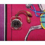 Gentleman's Pocket WatchSwitzerland, 1930s, EBEL Steel and transparent plastic. C. 35 x 29 mm. C.