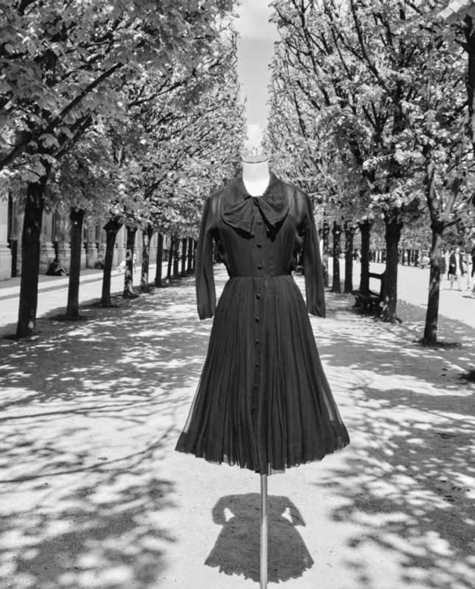 DressChristian Dior for Dior Haute Couture, Paris Haute Couture Collection Spring/Summer 1956 Silk - Bild 2 aus 3