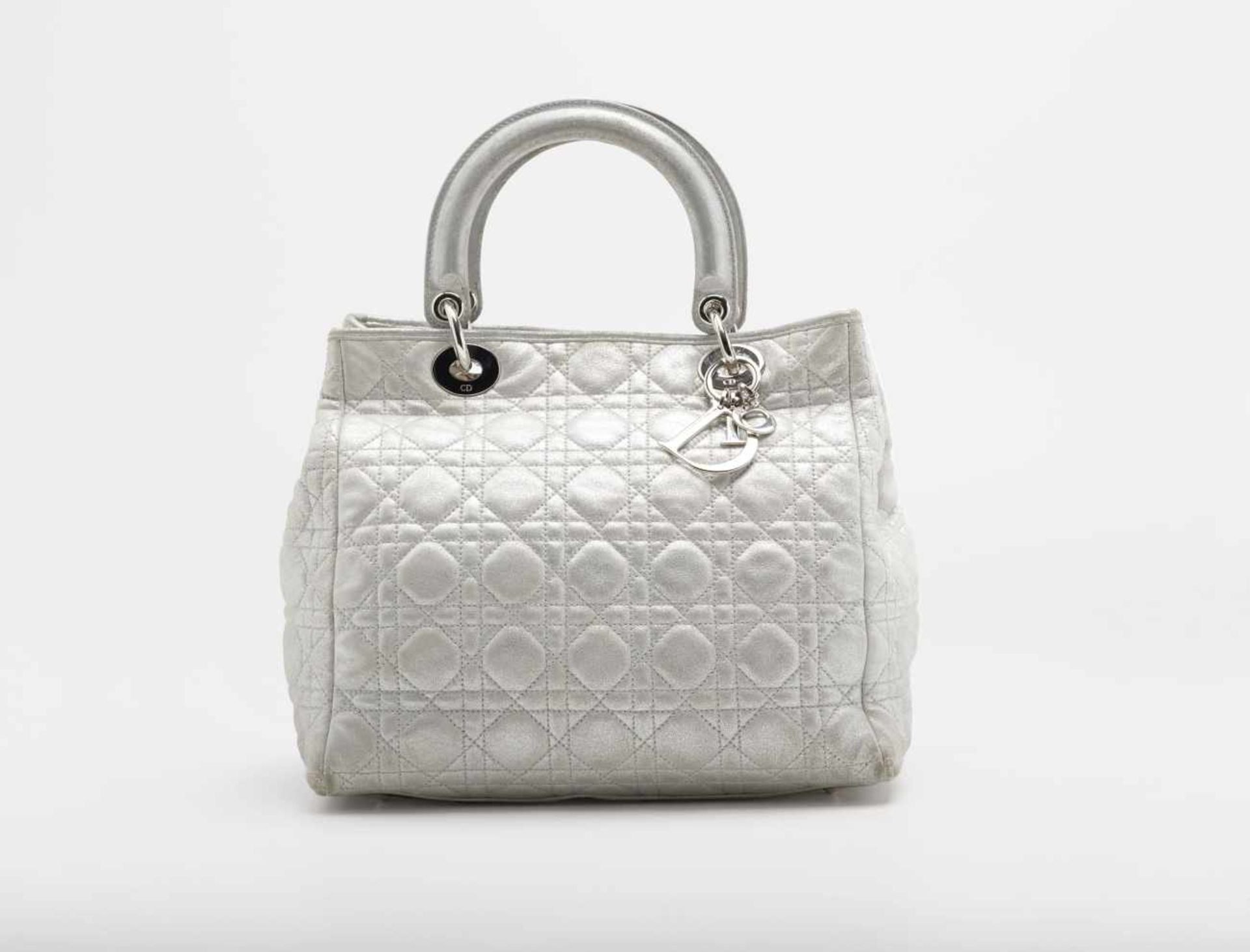 HandbagGianfranco Ferré for Christian Dior Boutique, Paris Quilted lamb leather, metallic silver.