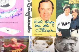 AutogrammkartenChrist Howland, Marianne & Michael, Maria Hellwig, Marianne Lindner, Gerhard Jahn (