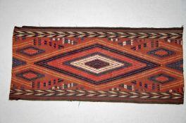 Kelim-Zeltbandca. 77 x 34 cm.