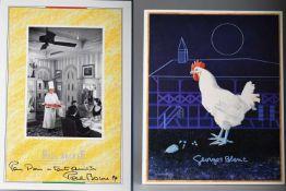 Zwei signierte Speisekarten, Paul Bocuse und Georges Blanc2 x Bocuse, davon 1 x signiert 1999; 1 x