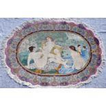 Bilderteppich, China für den europäischen Marktfarbenfroh und naturalistisch gehaltene Badeszene