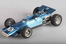 Schuco Matra Ford Formel 1, Modell 1074Uhrwerk intakt, Lenkachse intakt, l ca. 24 cm, Schlüssel