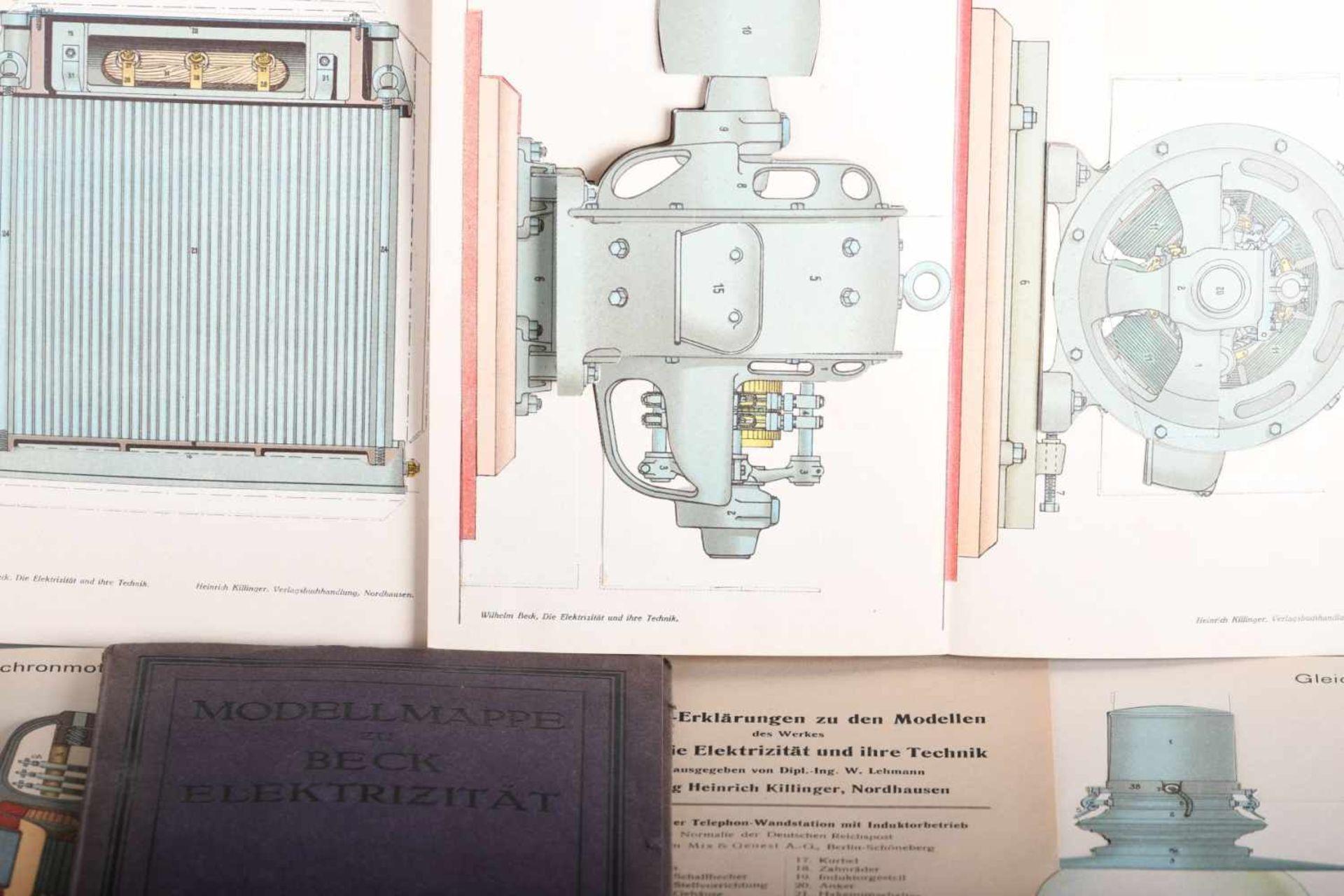 Lehmann, W.: Modellmappe zu Beck, Die Elektrizität und ihre TechnikBeschreibungen und