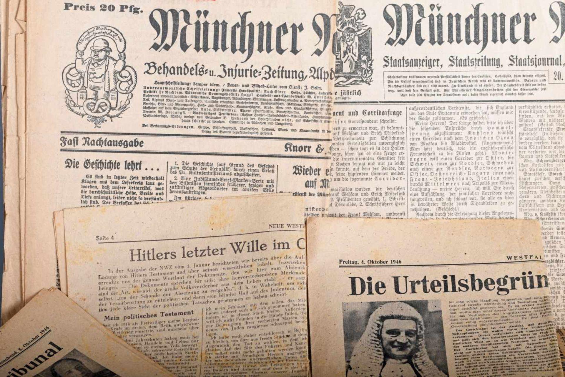 Münchner Neueste Nachrichten und weitere historische TageszeitungenZeitgeschichtlich interessante