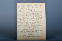 Handschriftliche Kochrezepte, Süddeutschland um 1780Seite ca. 18 x 24 cm, kurze Rezepte zu Forellen,