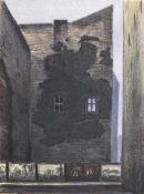 Butzmann, Manfred(geb. 1942 Potsdam, lebt in Bornim)Dunkler FleckFarbalgraphie in 4 Farben, 1995,