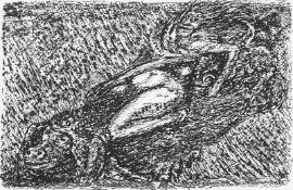 """Cremer, Fritz(Arnsberg/Ruhr 1906 - 1993 Berlin)aus dem Zyklus """"Walpurgisnacht"""", Blatt 12: Die Hexe"""