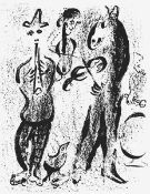 """Chagall, Marc(Witebsk 1887 - 1985 St. Paul-de-Vence)Gaukleraus """"Lithograph II""""Lithographie, 1963,"""