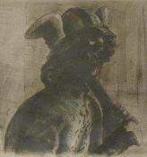Butzmann, Manfred(geb. 1942 Potsdam, lebt in Bornim)Merkur in SanssouciFarbzinkographie, 1980,