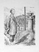 Baluschek, Hans(Breslau 1870 - 1935 Berlin)Der StromerLithographie, 1920, 348x271, sign., dat.,