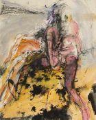 Fischer, Steffen(geb. 1954 Dohna, lebt in Dresden)Agonie XZeichnung, Tusche, Aquarellfarben,