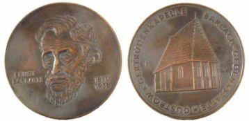 Fitzenreiter, Wilfried(Salza/Harz 1932 - 2008 Berlin)Gedenkplakette Ernst Barlach (1870 - 1938)