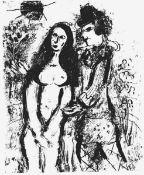 """Chagall, Marc(Witebsk 1887 - 1985 St. Paul-de-Vence)Der verliebte Clownaus """"Lithograph II"""""""