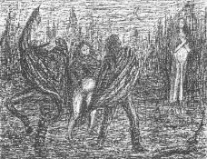 Cremer, Fritz(Arnsberg/Ruhr 1906 - 1993 Berlin)aus dem Zyklus Walpurgisnacht, Blatt 33: Faust,