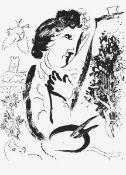 """Chagall, Marc(Witebsk 1887 - 1985 St. Paul-de-Vence)Vor dem Gemäldeaus """"Lithograph II"""""""