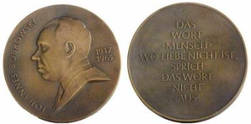 Fitzenreiter, Wilfried(Salza/Harz 1932 - 2008 Berlin)Gedenkplakette Johannes Bobrowski (1917- 1965)