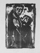 Feige, Johannes(geb. 1931 Crimmitschau, lebt in Crimmitschau)Bitte um VergebungHolzschnitt, o. J.,
