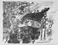 """Corinth, Lovis(Tapiau 1858 - 1925 Zandvoort)Der Bau der Arche (Noah)Blatt 2 der Folge """"Die"""