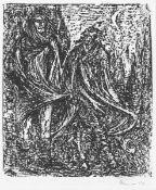 Cremer, Fritz(Arnsberg/Ruhr 1906 - 1993 Berlin)aus dem Zyklus Walpurgisnacht, Blatt 2: Faust und