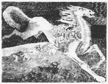 """Grundig, Hans(Dresden 1902 - 1958 Dresden)UntergangRadierung, 1938, Blatt 46 aus der Folge """"Tiere"""