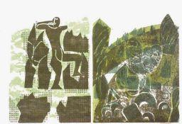 Grieshaber, HAP (Helmut Andreas Paul)(Schloß Rot a.d. Rot 1909 -1981 Achalm/Reutlingen)Bedrohung,