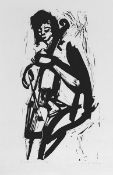Dirx, Willi(Recklinghausen 1917 - 2002 Wuppertal)CellistinLithographie, o. J., vermutlich 1970er
