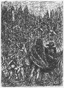 Cremer, Fritz(Arnsberg/Ruhr 1906 - 1993 Berlin)aus dem Zyklus Walpurgisnacht, Blatt 23: