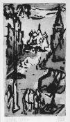 Dähn, Fritz(Heilbronn 1908 - 1980 Heilbronn, lebte in Berlin)MoskauRadierung, Aquatinta, 1959,