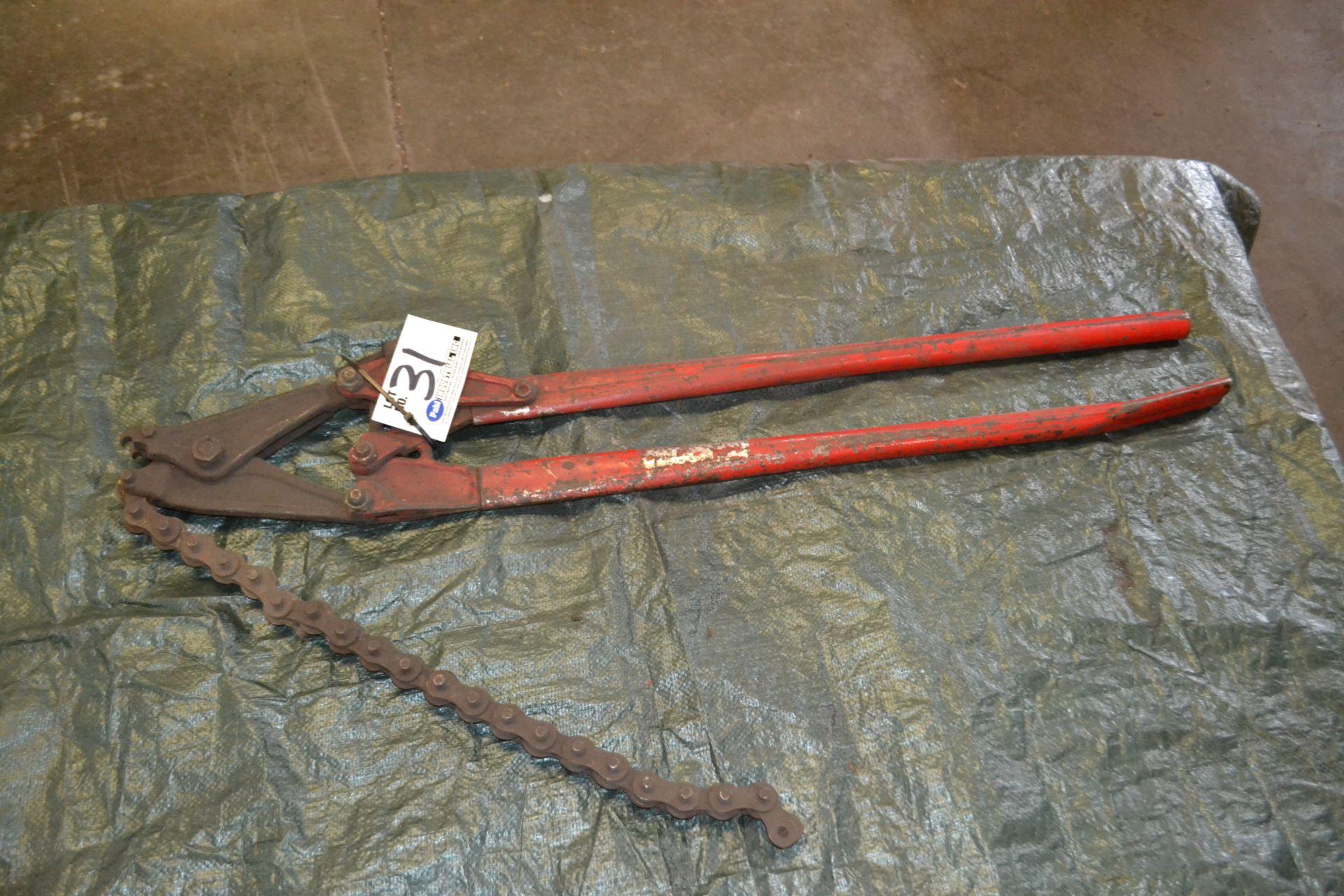 Lot 31 - Large Wheeler Chain Soil Pipe Cutter