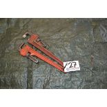 """Lot 27 - (2) 18"""" Pipe Wrenches"""