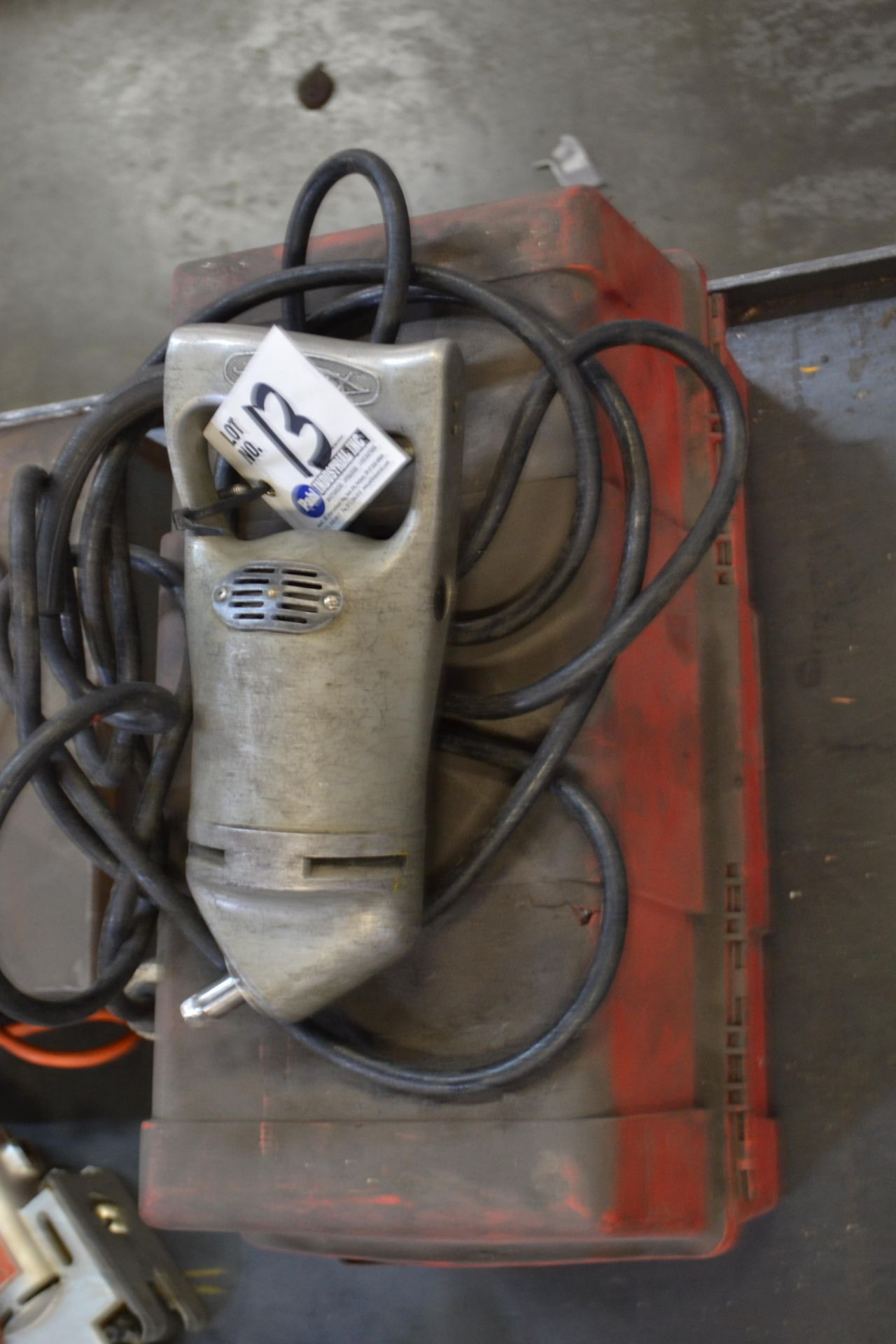 Lot 13 - Sioux Model 129 Angled Valve Seat Grinder with box and stones