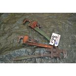 Lot 28 - (3) Assorted Pipe Wrenches