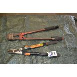 "Lot 30 - No.2 Bolt Cutter and Fiskars 25-37"" Bypass Lopper"